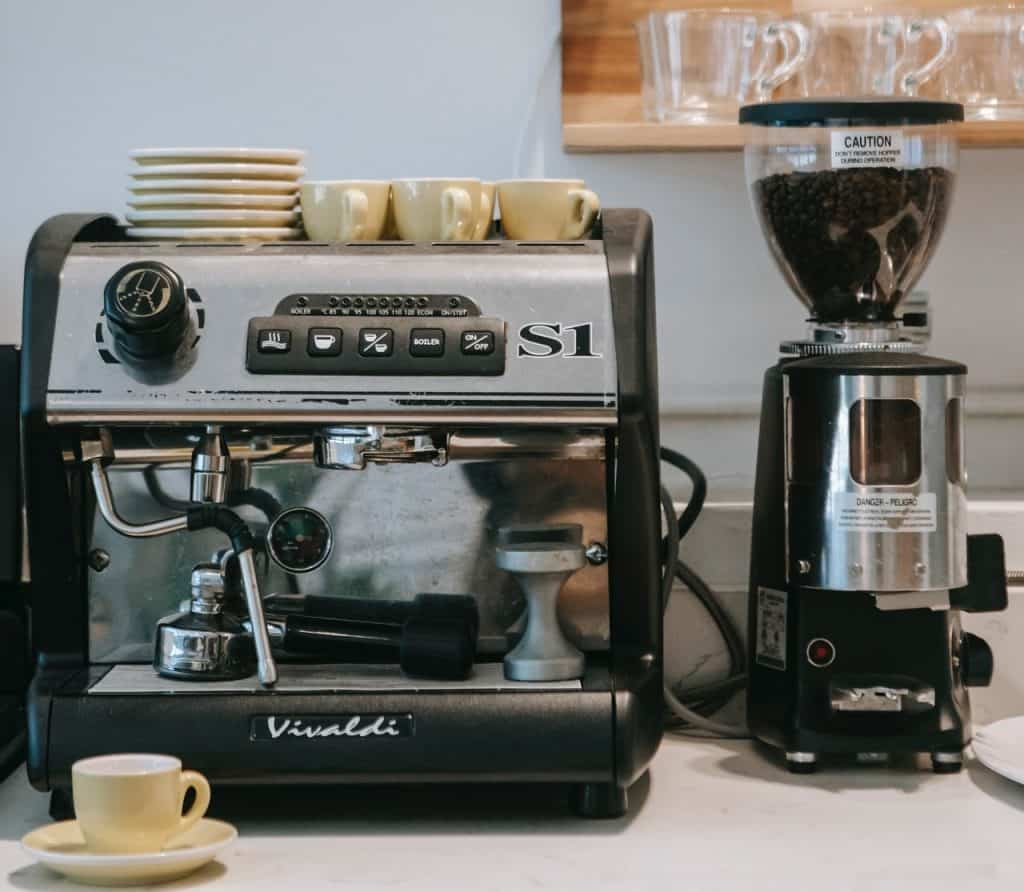 commercial coffee maker with water line